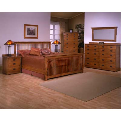 trend_manor_3100_mission_king_spindle_bedroom_collection
