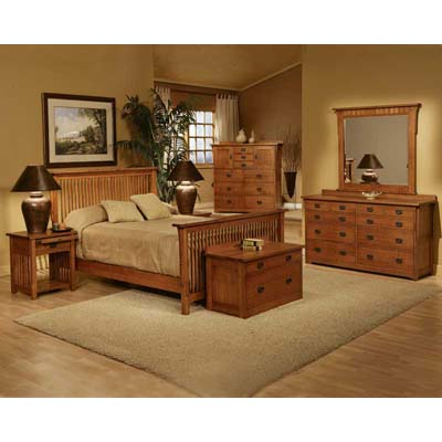 trend_manor_3106_mission_spindle_bedroom_collection
