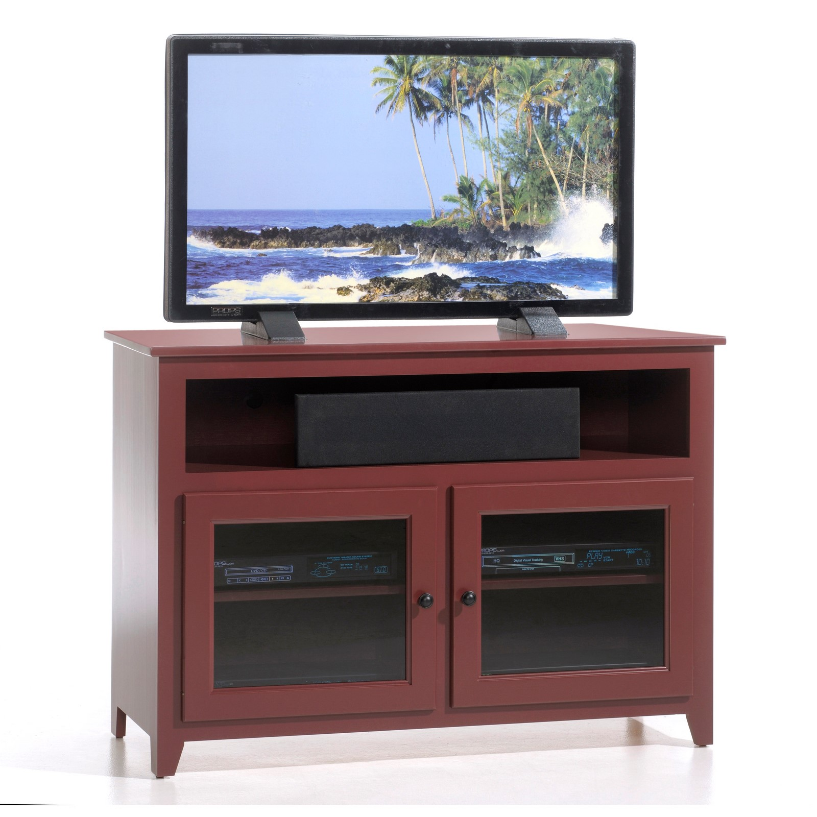 Y t woodcraft economy red maple media console stewart roth 1131 stand br maple barn red geotapseo Image collections