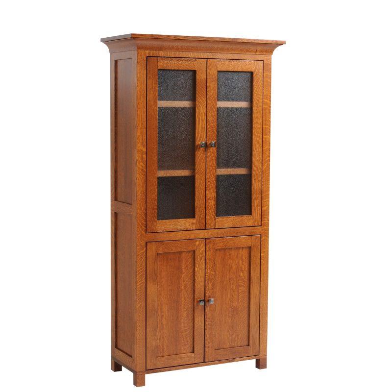 9-3672 Bookcase w-doors closed