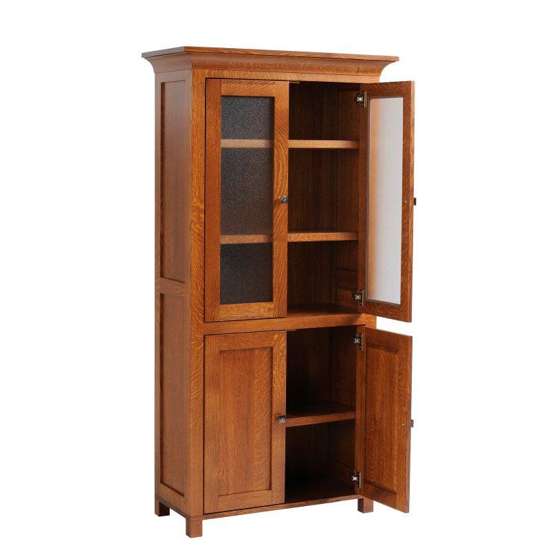 9-3672 Bookcase w-doors open