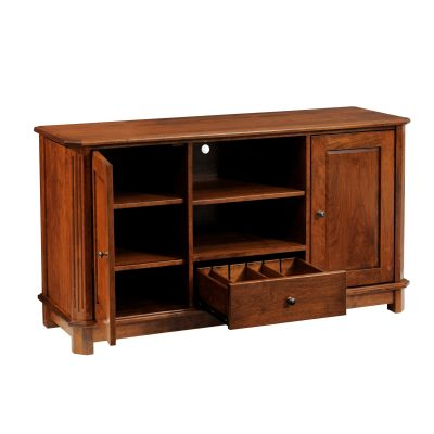 414-Franchi-TV-Stand-ChCherry-OCS111-Open CLIPPED