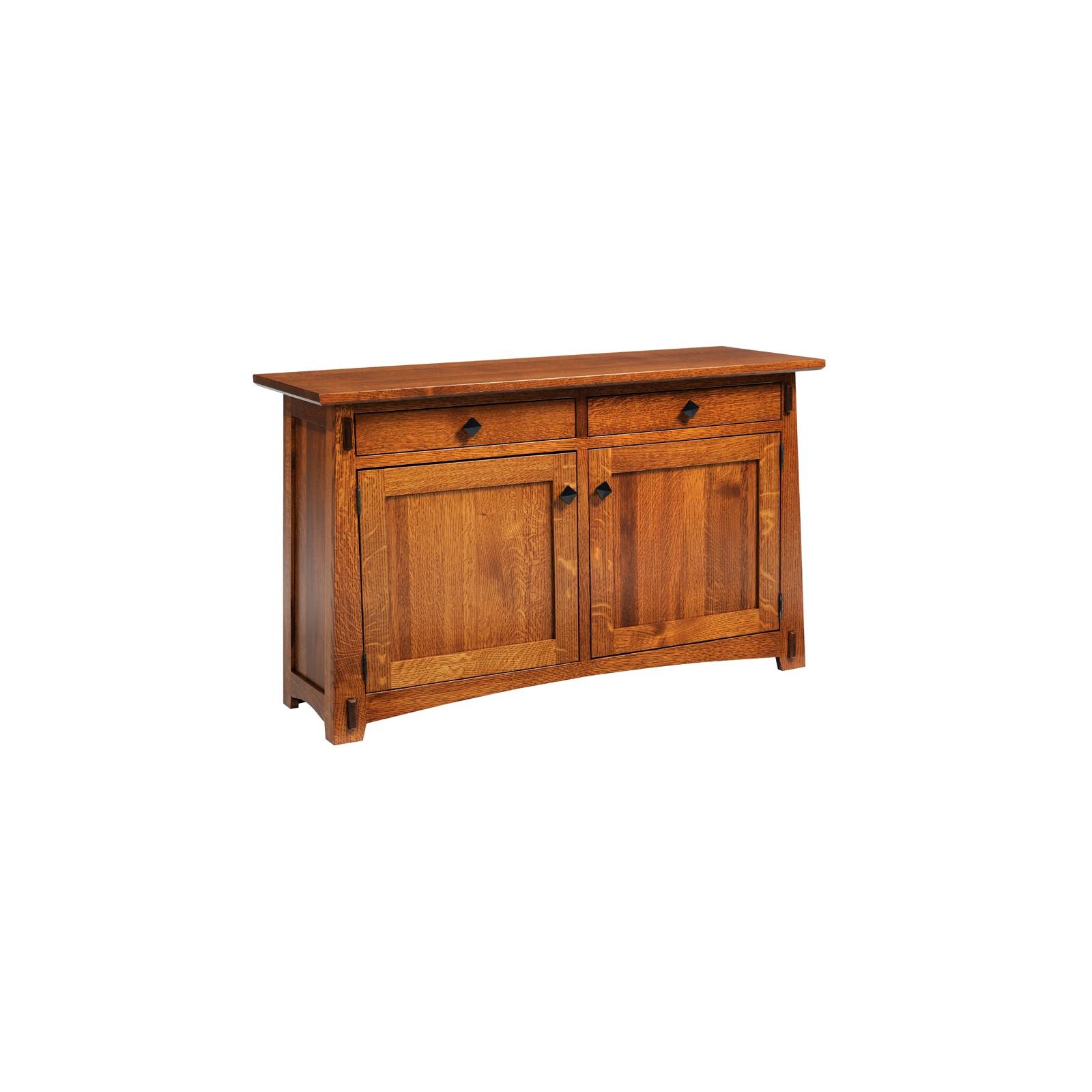 arts crafts chocolate sofa table. Black Bedroom Furniture Sets. Home Design Ideas