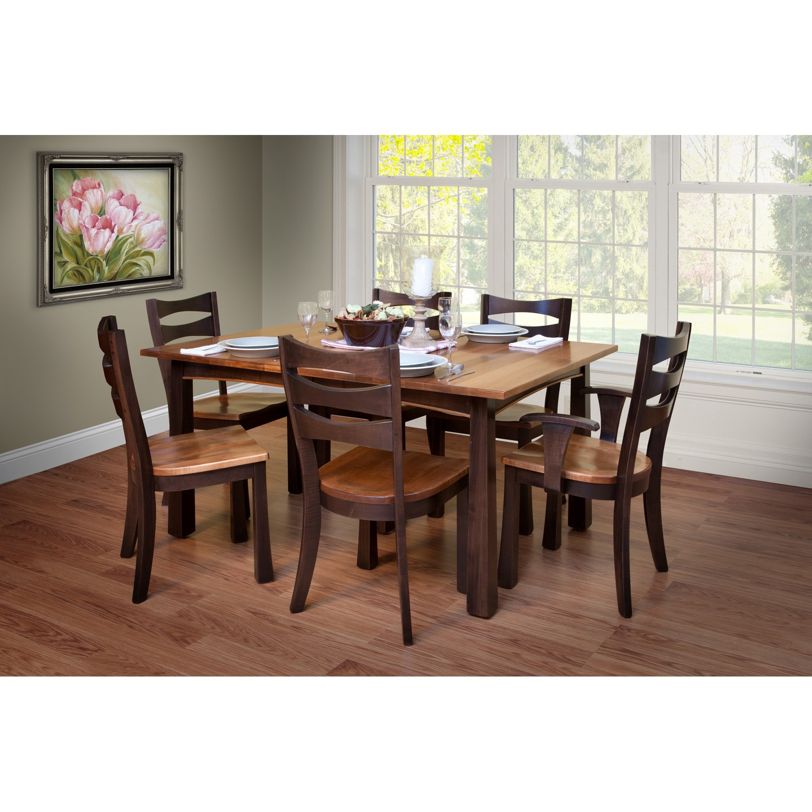 Trailway exeter 7 pc dining room set stewart roth furniture - Pc dining room set ...