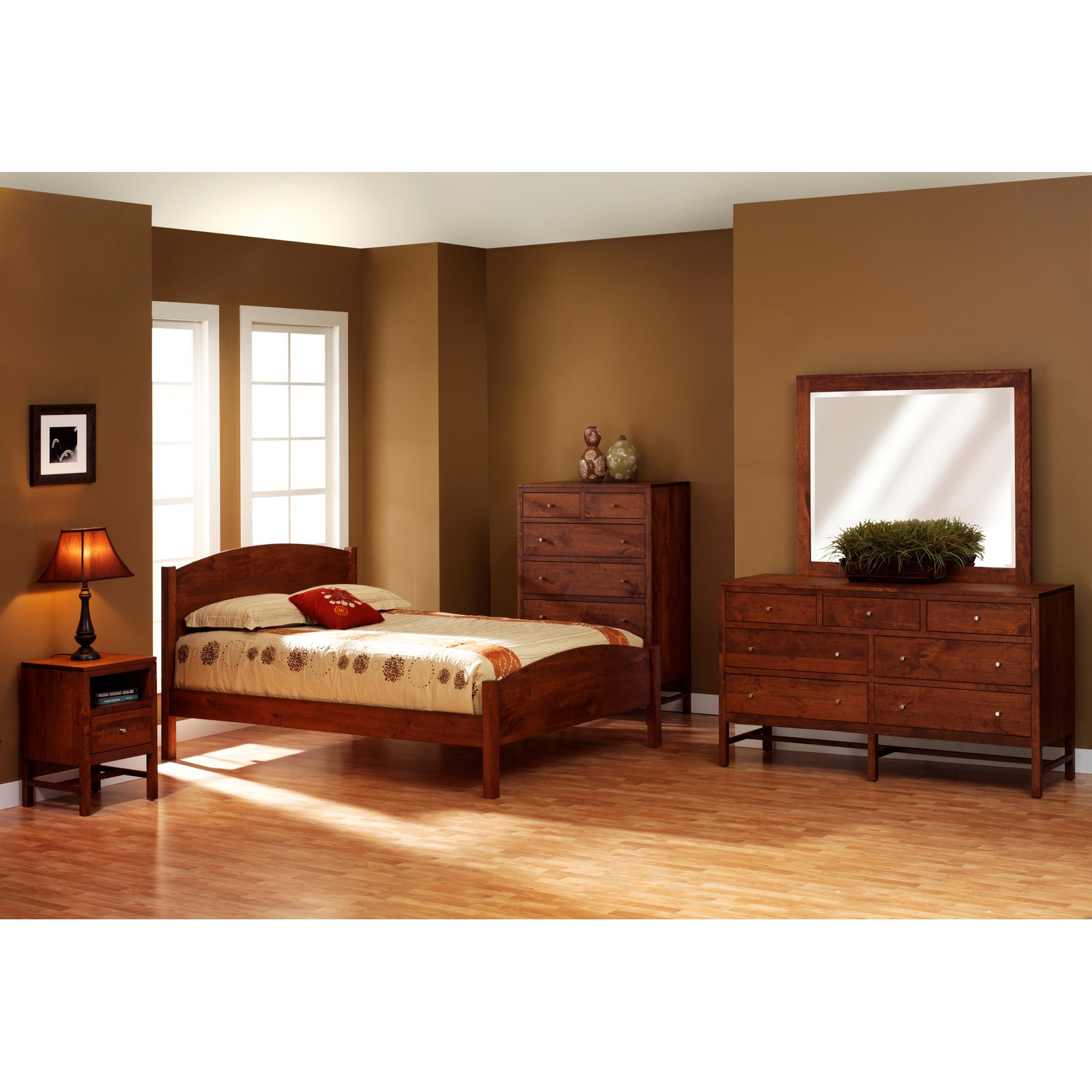 Millcraft lynnwood eclipse bedroom set stewart roth furniture - Amish bedroom furniture ...