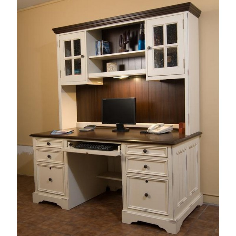 Light Wood Desk With Hutch