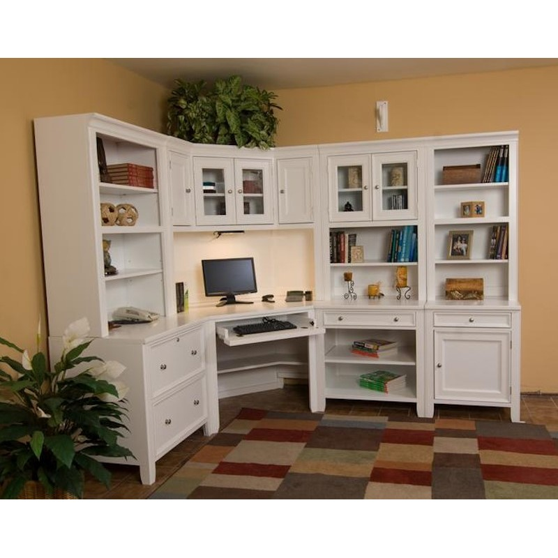 North American Wood Furniture Corner Computer Desk