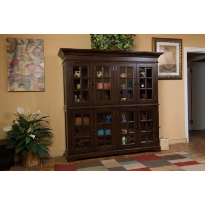 North American Wood Furniture Curio Cabinet