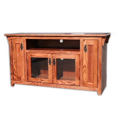 Oak Design Corp 56 inch Mission TV Console (2)