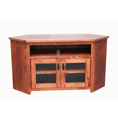 Oak Design Corp Mission Corner TV Console