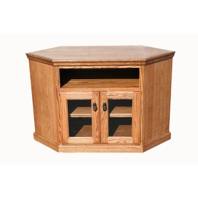 Oak Design Corp Traditional Corner TV Console (2)