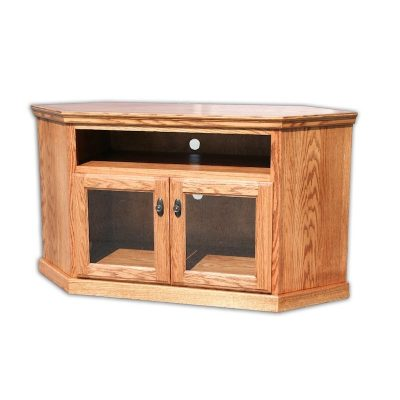 Oak Design Corp Traditional Corner TV Console