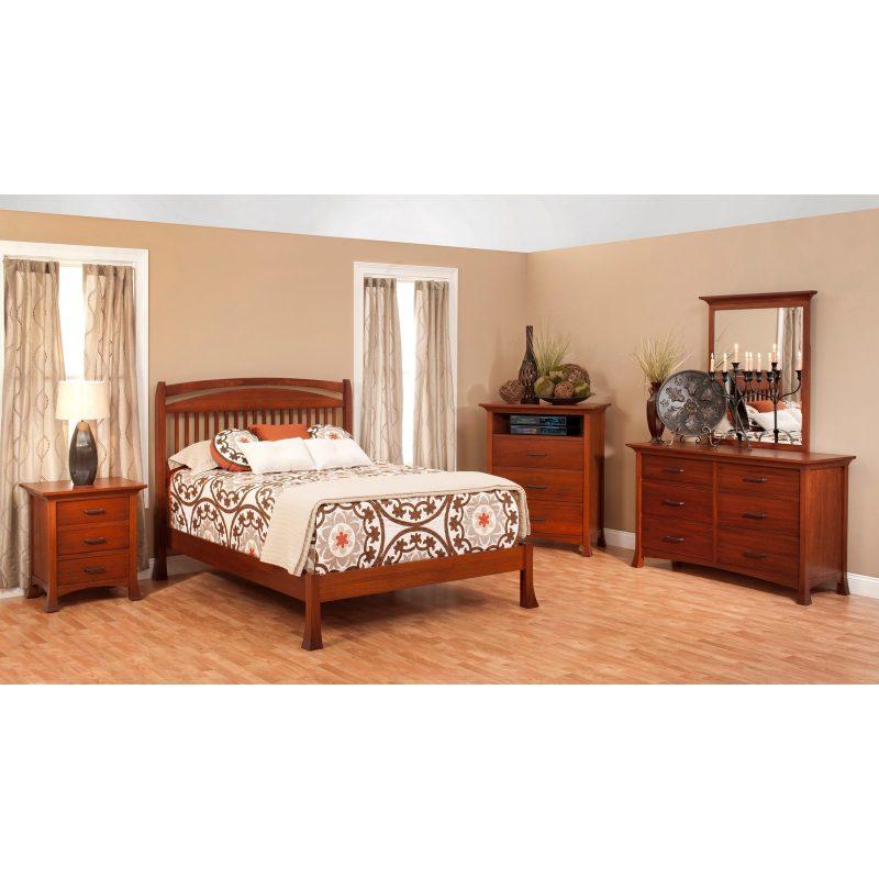 Millcraft Oasis Slat Bed Bedroom Set Stewart Roth Furniture