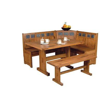 Sunny Designs Rustic Oak Breakfast Nook Dining Room Collection
