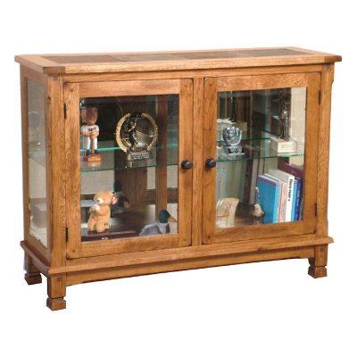 Sunny Designs Rustic Oak Curio Cabinet