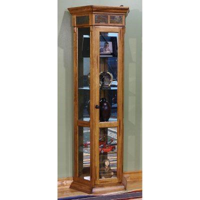 Sunny Designs Rustick Oak Curio Cabinet 2