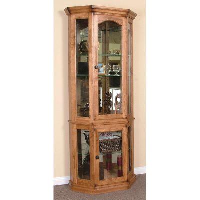 Sunny Designs Rustick Oak Curio Cabinet