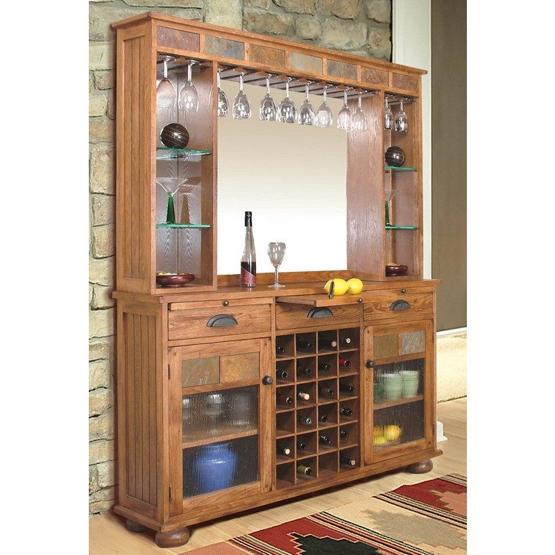 Top Sunny Designs Sedona Two Piece Back Bar - Stewart Roth Furniture AZ38