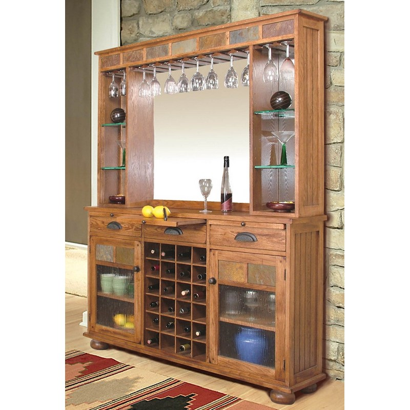 sunny designs sedona two piece back bar stewart roth furniture. Black Bedroom Furniture Sets. Home Design Ideas