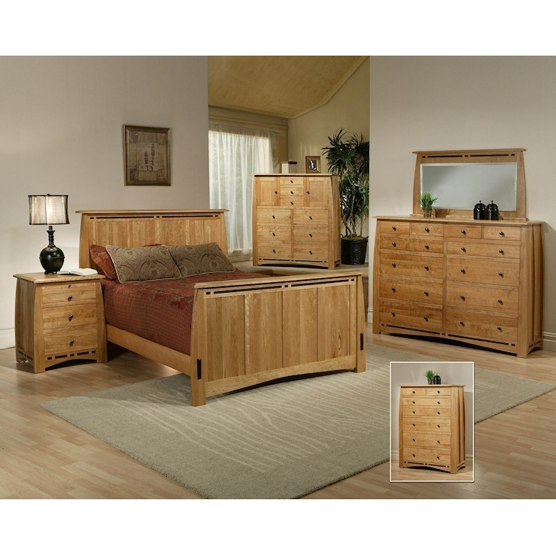 Trend Manor African Cherry Bedroom Set
