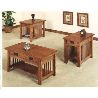 Trend Manor Mission Living Room Table Collection 2