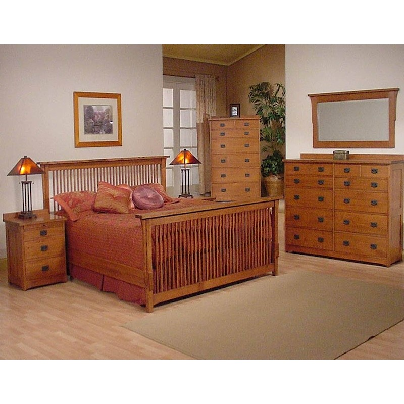 Trend Manor Mission Spindle Bedroom Set