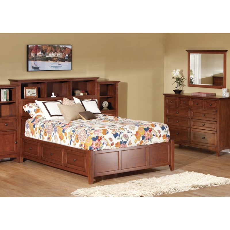 Whittier Wood Furniture Mckenzie Bookcase Storage Bedroom