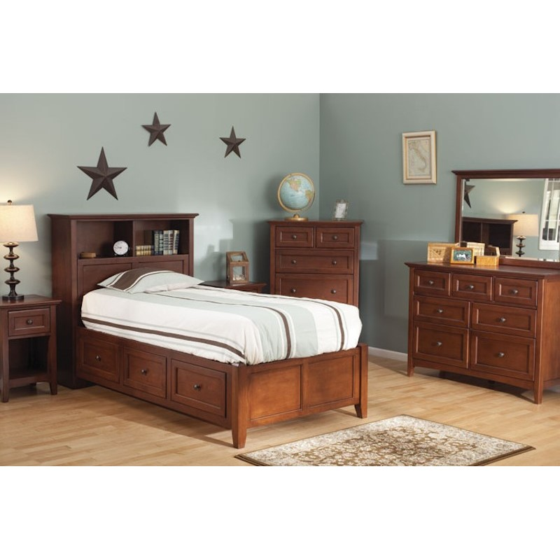 whittier wood furniture mckenzie twin storage bedroom set