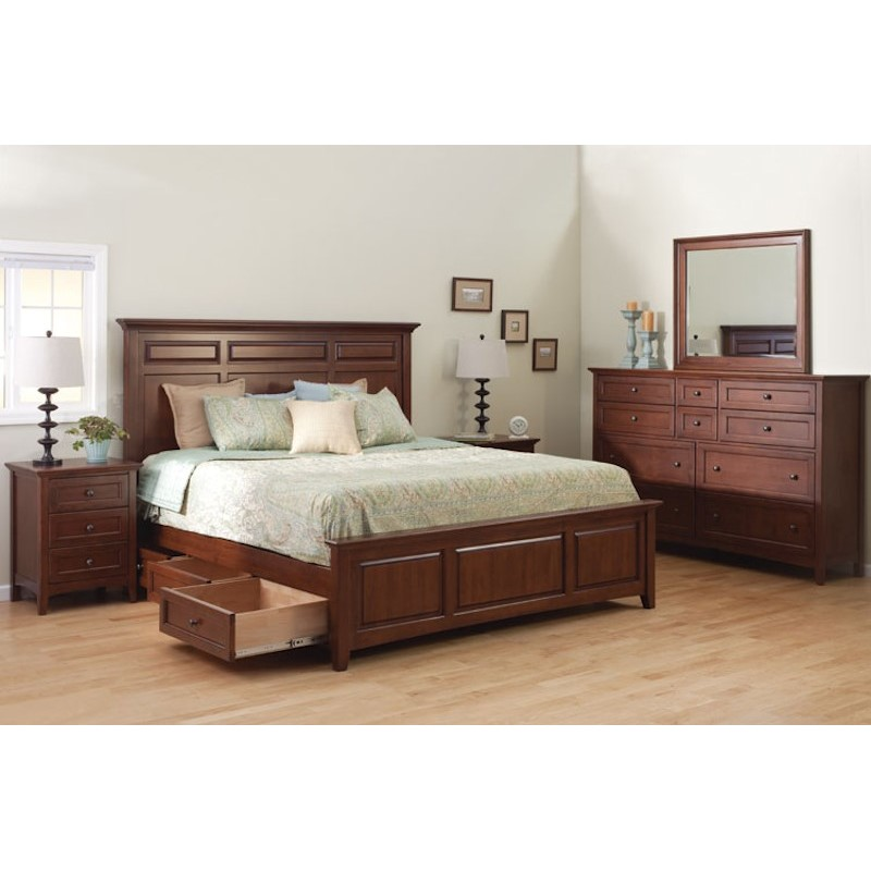 whittier wood furniture mckenzie storage bedroom set
