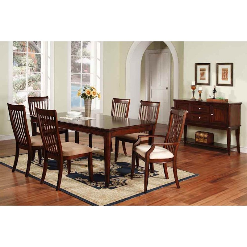 Winners Only Topaz Cherry 7 Piece Dining Room Set