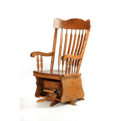 21406  Swivel Glider Rocker Oak_FW