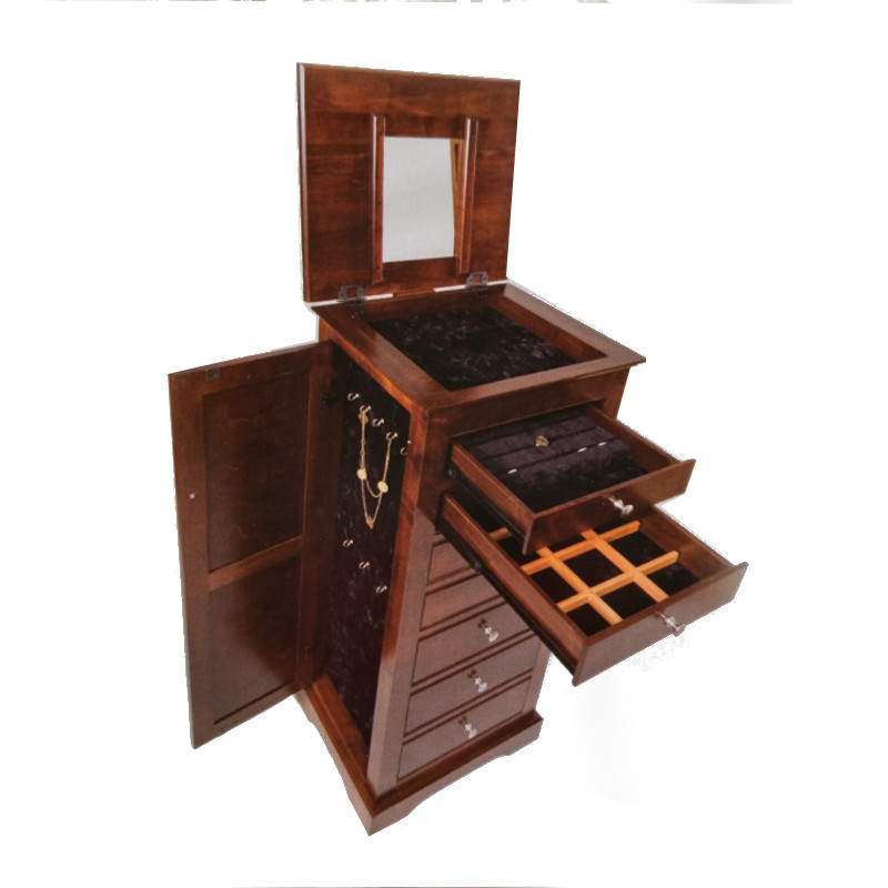 Deluxe Beaded Jewelry Armoire 153 Open