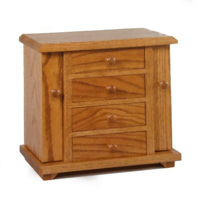 Red oak jewelry Cabinet