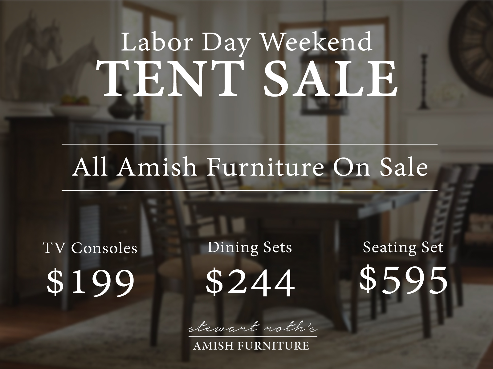 Amish Furniture Banner Labor Day
