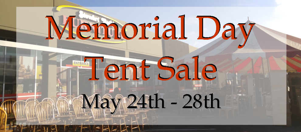 Memorial Day Tent Sale 2018
