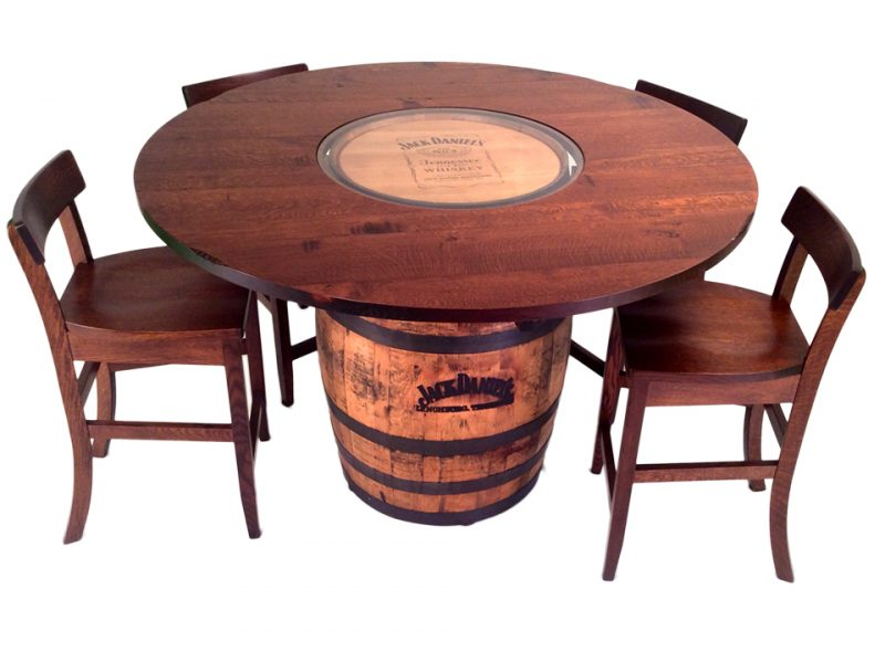 Jack Daniels Barrel Table and Bar Stools 5 Pc Set  : Jack Daniels Top 800x600 from stewartrothfurniture.com size 800 x 600 jpeg 65kB