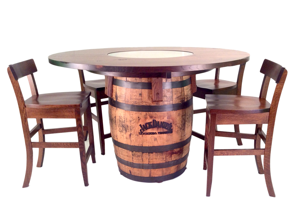Jack Daniels Barrel Table and Bar Stools 5 Pc Set  : New Jack Daniels from stewartrothfurniture.com size 960 x 720 jpeg 262kB