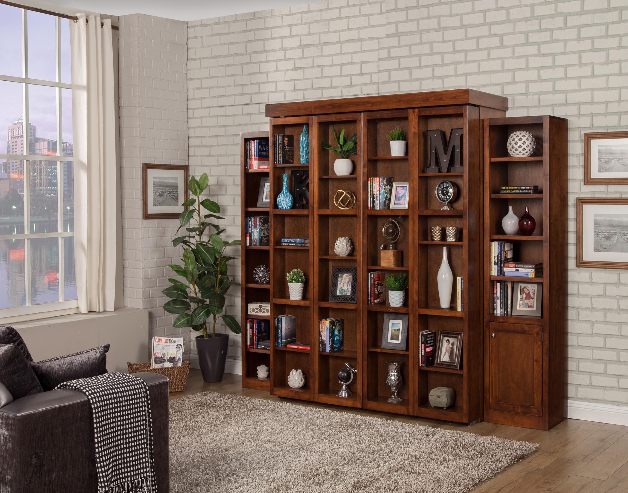 Oak Design Corp San Marino Library Wall Hide-away Bed - Stewart Roth ...