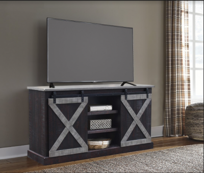 Grey Barn Door TV Stand